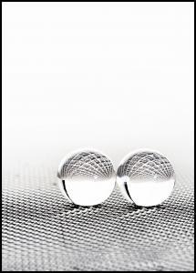 Bildverkstad Concept with balls on fantasy background Poster