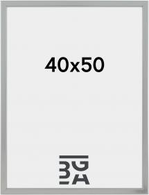HHC Distribution Fotolijst Slim Mat Ontspiegeld Glas Zilver 40x50 cm