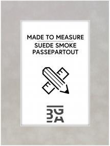 Egen tillverkning - Passepartouter Passe-partout Suede Smoke - Op maat gemaakt