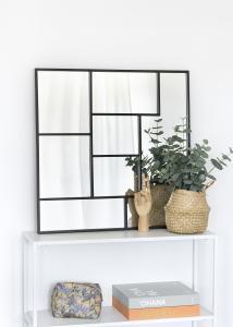 KAILA KAILA Spiegel Asymetric - Zwart 70x70 cm