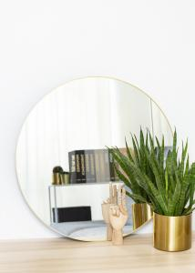 KAILA KAILA Round Mirror - Thin Brass 70 cm Ø