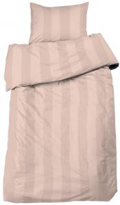 Redlunds Dekbedovertrek set Big Stripe Satin 2-delig - Peach