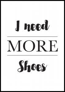 Bildverkstad More Shoes Poster