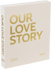 KAILA KAILA OUR LOVE STORY Creme - Coffee Table Photo Album (60 Zwarte pagina's)