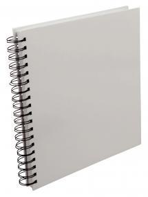 Vierkant Spiraalfotoalbum Wit -25x25 cm (80 Wit pagina's / 40 bladen)