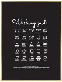 Bildverkstad Washing guide - Black Poster