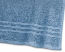 Borganäs of Sweden Badhanddoek Basic Badstof - Middenblauw 65x130 cm