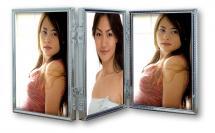 ZEP Tripla Zilver 3 Foto's Vouwlijst 10x15 cm