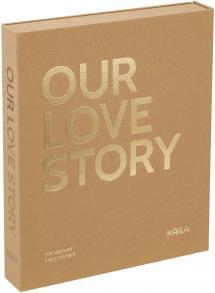 KAILA KAILA OUR LOVE STORY Manilla - Coffee Table Photo Album (60 Zwarte pagina's)