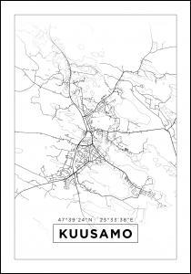 Bildverkstad Map - Kuusamo - White Poster