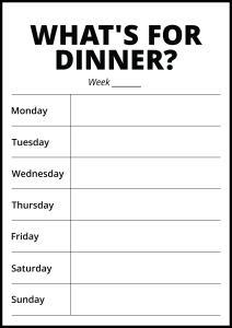 Bildverkstad Whats For Dinner II - White Poster