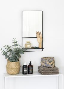 KAILA KAILA Spiegel met plankje - Zwart 31x60 cm