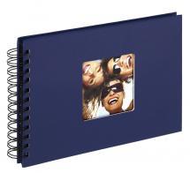 Walther Fun Spiraalalbum Blauw - 23x17 cm (40 Zwarte pagina's / 20 bladen)