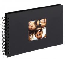 Fun Spiraalalbum Zwart - 23x17 cm (40 Zwarte pagina's / 20 bladen)