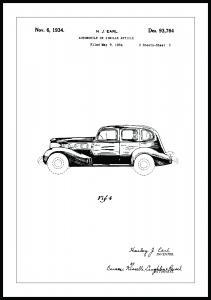 Bildverkstad Patenttekening - La Salle III Poster