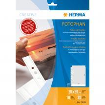 Difox Herma foto insteekhoezen 20x30 cm staand - 10-pack witte
