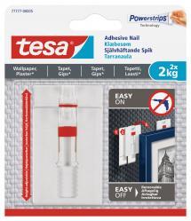 Tesa Tesa - Verstelbare zelfklevende spijker voor alle soorten muren (max 2x2kg)