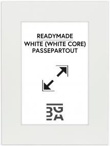 Passe-partout Wit (Witte kern) 40x50 cm (29x39)