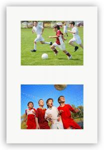 Egen tillverkning - Passepartouter Passe-partout Wit 40x50 cm - Collage 2 Foto's (17x23 cm)
