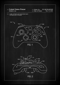 Bildverkstad Patent Print - Game Controller III - Black Poster