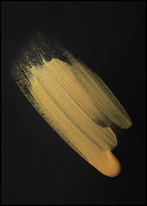 Bildverkstad Abstract Gold Poster