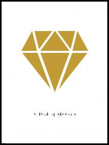 Bildverkstad Diamant - Goud Poster