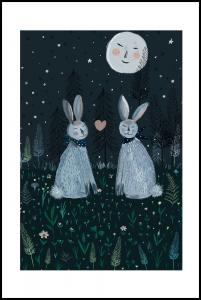 Bildverkstad Rabbits in the Forest Poster