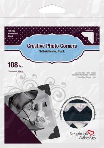 3L Creative Photo Corners Zwart - 108 st