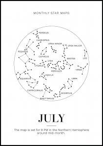 Bildverkstad Monthly star July Poster