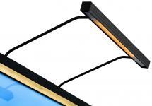BLP BLP 117 voor lijstbreedte 85-110 cm schilderijverlichting - Zwart
