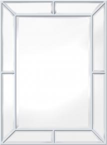 Innova Editions Spiegel Pimlico Glass Panelled Wood Misty Wit 79x112 cm