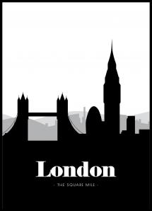 Bildverkstad London Skyline Poster