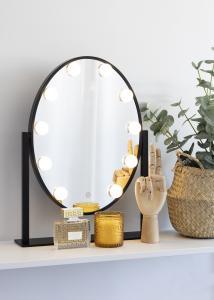 KAILA KAILA Make-up spiegel IV Zwart - 34x47 cm