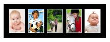 Galleri 1 Passe-partout Zwart 20x60 cm - Collage 5 Foto's (9x14 cm)