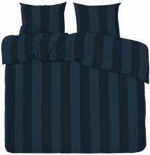 Redlunds Dekbedovertrek set Big Stripe Satin Kingsize 3-delig - Marine