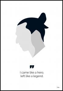 Tim Hansson Zlatan the legend Poster