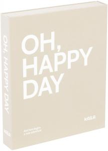 KAILA KAILA OH HAPPY DAY Grey - Coffee Table Photo Album (60 Zwarte pagina's)