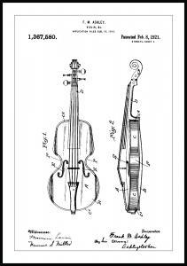 Bildverkstad Patenttekening - Viool Poster