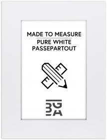 Egen tillverkning - Passepartou Passe-partout Krijtwit (Witte kern) - Op maat gemaakt