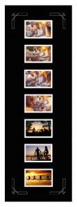Egen tillverkning - Passepartouter Passe-partout Zwart 30x91 cm - Collage 7 Foto's (9x14 cm)