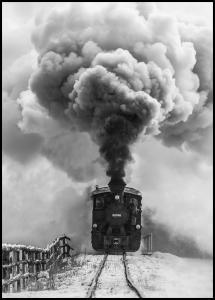 Lagervaror egen produktion Old train Poster