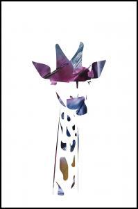 Bildverkstad Giraffe night Poster