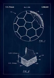 Bildverkstad Patent Print - Football - Blue Poster