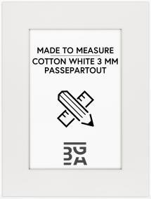Egen tillverkning - Passepartouter Passe-partout Cotton White - Op maat gemaakt