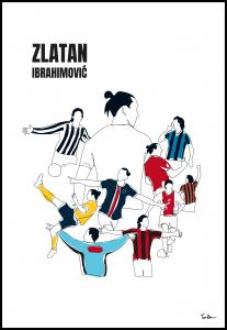 Bildverkstad History Of Zlatan With Name And-Colours Poster