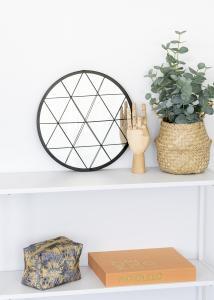 KAILA KAILA Ronde Spiegel Triangles - Zwart 35 cm Ø