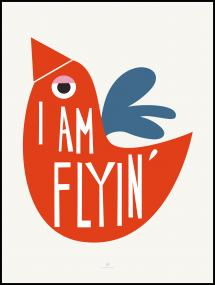Bildverkstad I Am Flying - Red Poster