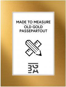 Egen tillverkning - Passepartouter Passe-partout Old Gold - Op maat gemaakt
