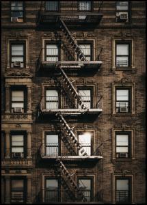 Lagervaror egen produktion New York Fire Escape Poster
