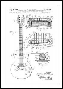 Lagervaror egen produktion Patenttekening - Elektrische gitaar I Poster